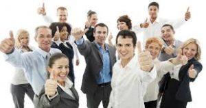 equipo de ventas contento